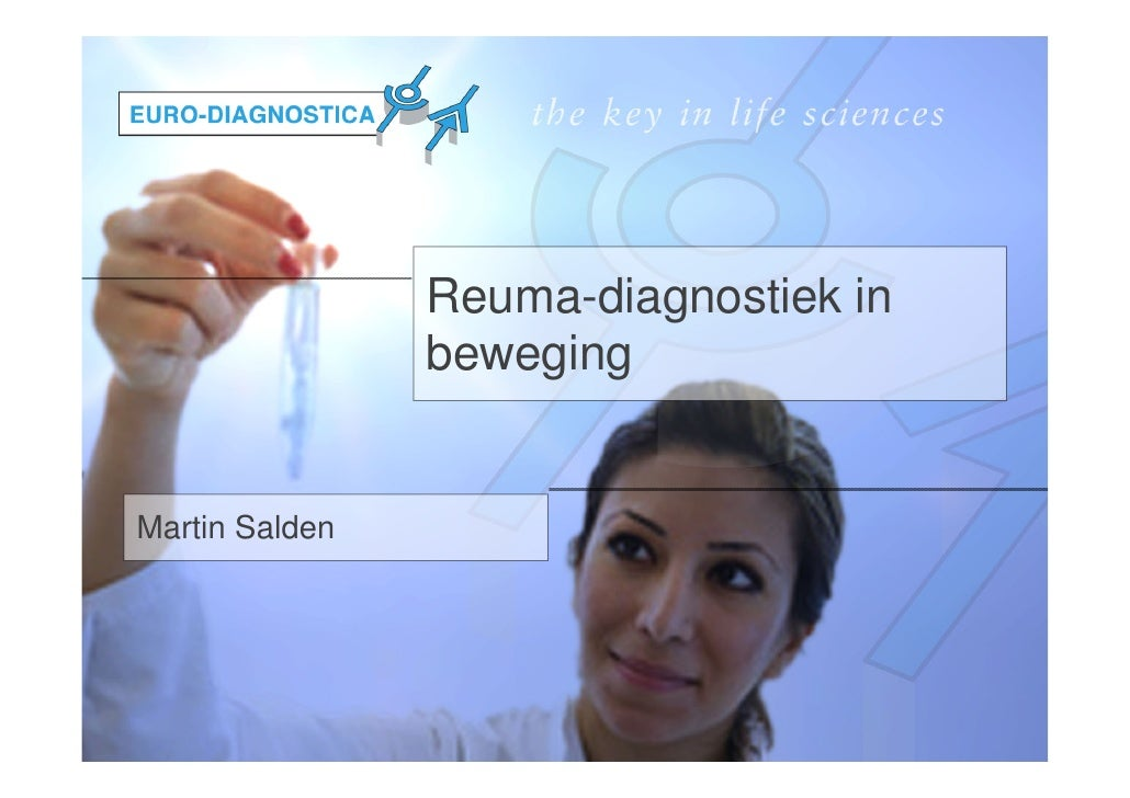 Reuma-diagnostiek in                bewegingMartin Salden