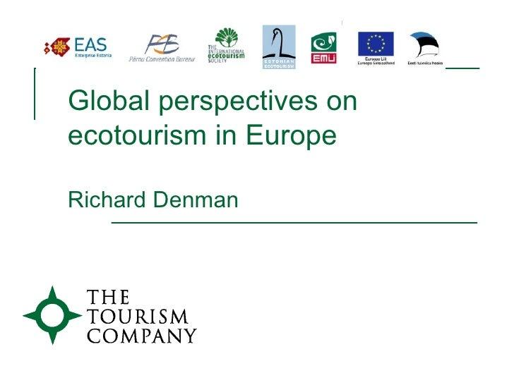 EuroEco2010 Richard Denman