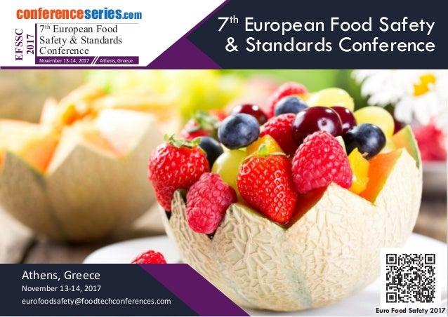 Resultado de imagem para 7th European Food Safety & Standards Conference greece
