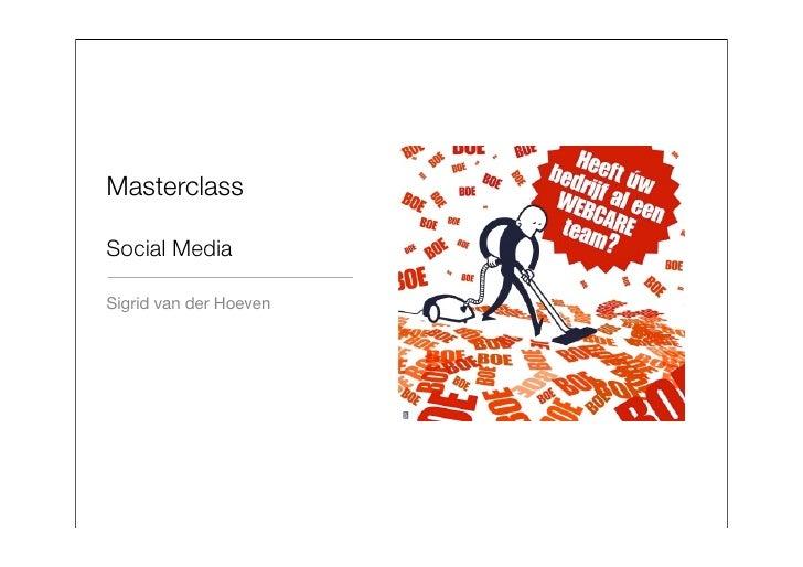 MasterclassSocial MediaSigrid van der Hoeven