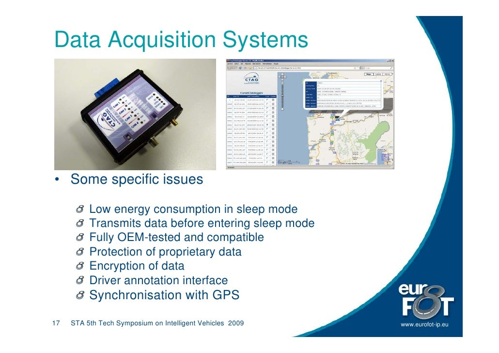Data Acquisition Systems     • Some specific issues            Low energy consumption in sleep mode           Transmits da...