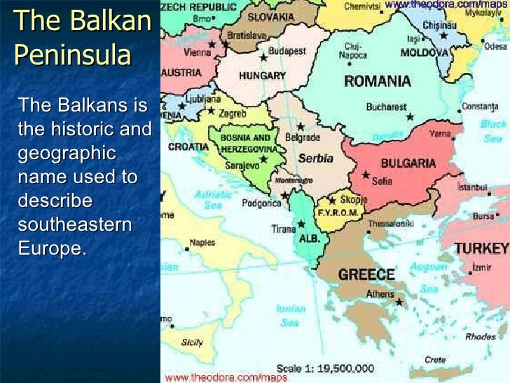 Balkan Peninsula Europe Map
