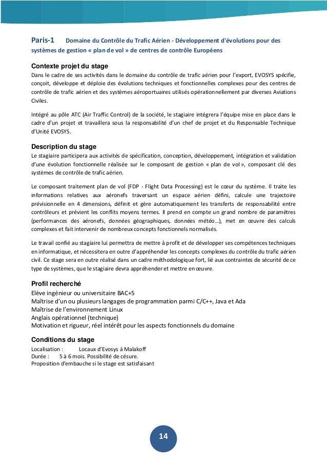 Paris-1  Domaine du Contrôle du Trafic Aérien - Développement d'évolutions pour des  systèmes de gestion « plan de vol » d...