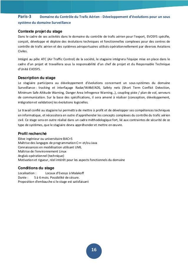 Paris-3  Domaine du Contrôle du Trafic Aérien - Développement d'évolutions pour un sous  système du domaine Surveillance C...