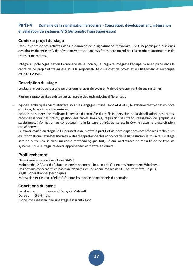 Paris-4  Domaine de la signalisation ferroviaire - Conception, développement, intégration  et validation de systèmes ATS (...