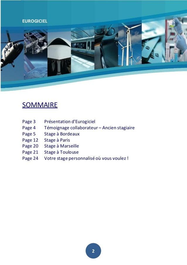 EUROGICIEL  SOMMAIRE Page 3 Page 4 Page 5 Page 12 Page 20 Page 21 Page 24  Présentation d'Eurogiciel Témoignage collaborat...