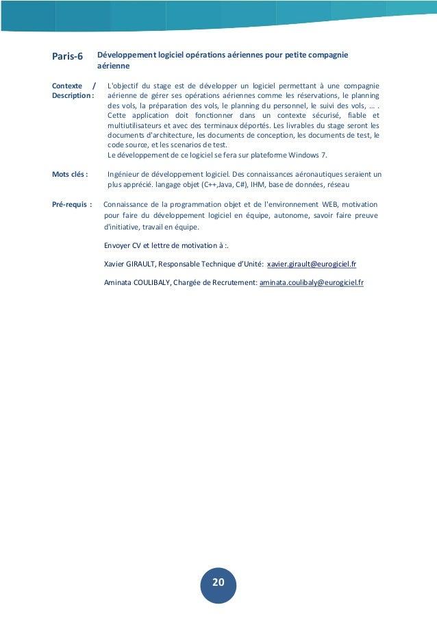 Paris-6  Développement logiciel opérations aériennes pour petite compagnie aérienne  Contexte / Description :  L'objectif ...