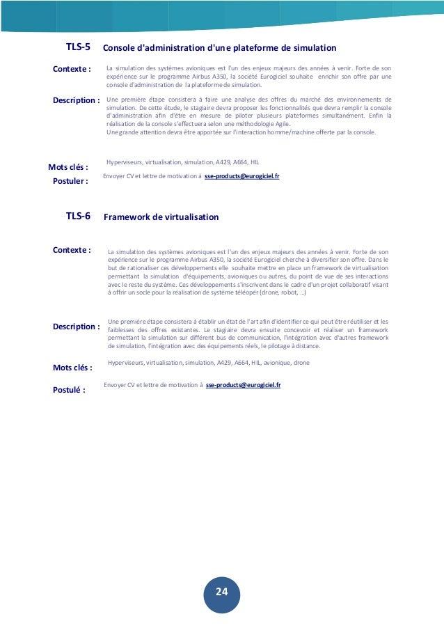TLS-5  Console d'administration d'une plateforme de simulation  Contexte :  La simulation des systèmes avioniques est l'un...