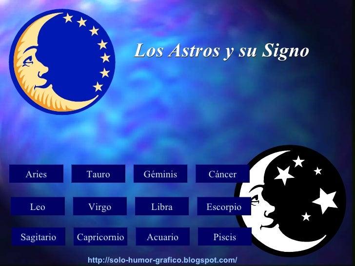 Los Astros y su Signo      Aries        Tauro         Géminis          Cáncer     Leo         Virgo           Libra       ...