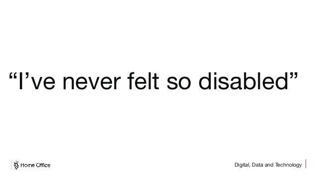 "Digital, Data and Technology ""I've never felt so disabled"""