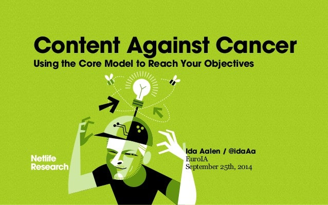 Content Against Cancer  Using the Core Model to Reach Your Objectives  Ida Aalen / @idaAa  EuroIA  September 25th, 2014