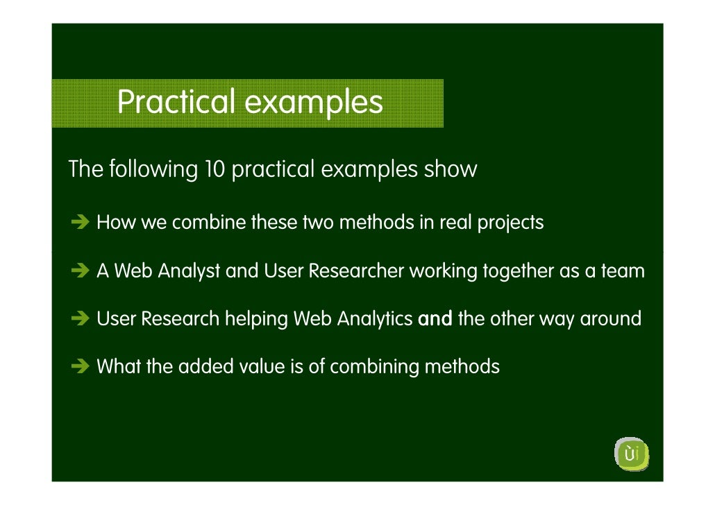 Practical examples The following 10 practical examples show    How we combine these two methods in real projects    A Web ...