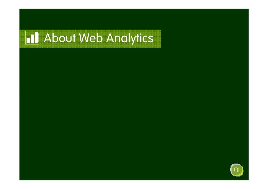 About Web Analytics