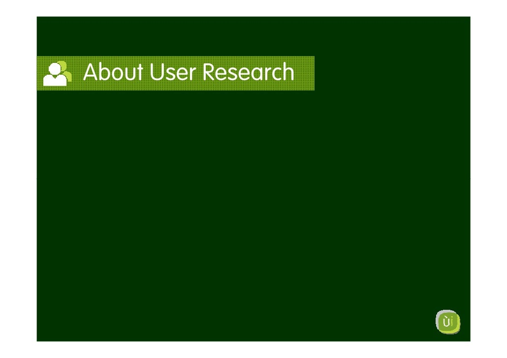 About User Research