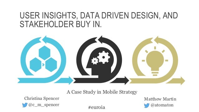 USER INSIGHTS, DATA DRIVEN DESIGN, AND STAKEHOLDER BUY IN. Matthew Martin @atomaton Christina Spencer @c_m_spencer #euroia...
