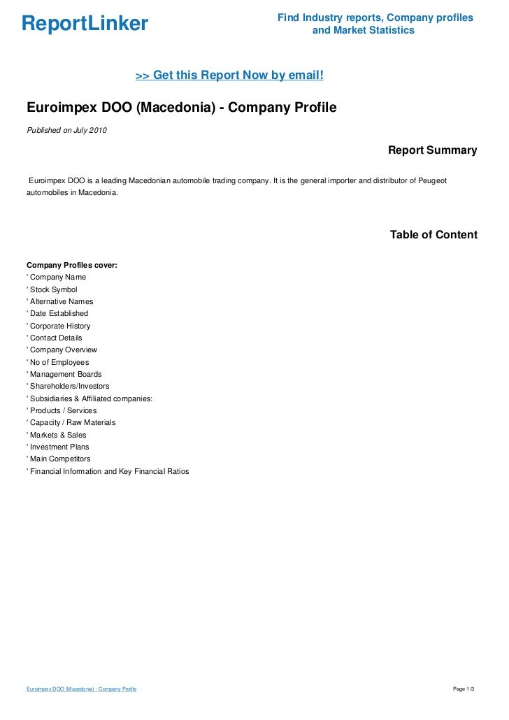 Find Industry reports, Company profilesReportLinker                                                                 and Ma...