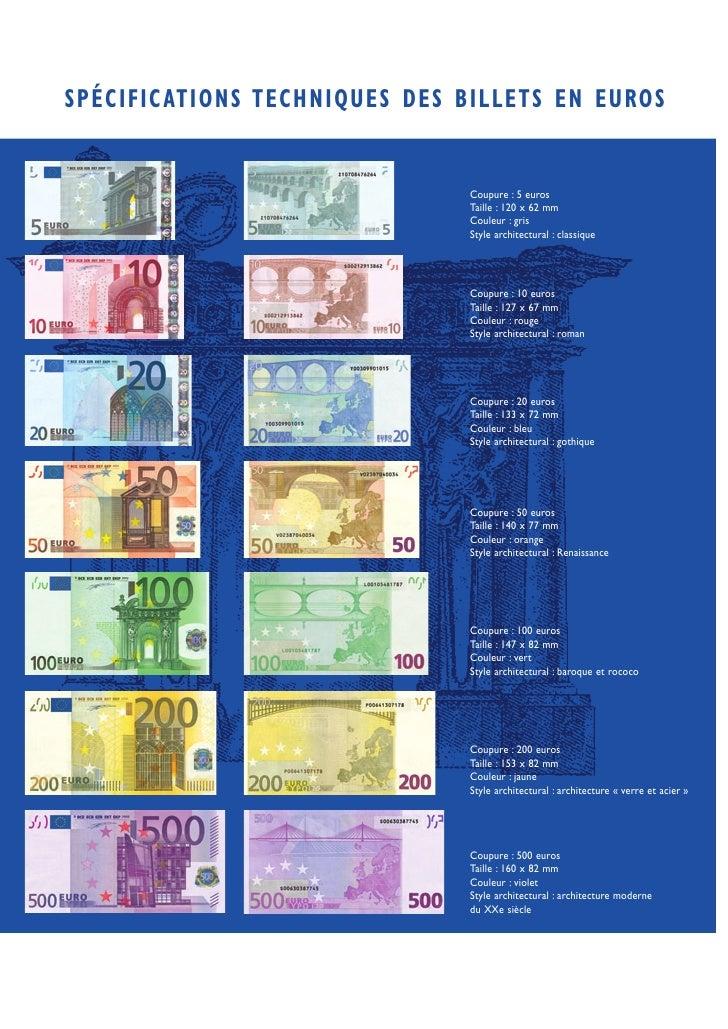 SPÉCIFIC ATIONS TECHNIQUES DES BILLETS EN EUROS                                  Coupure : 5 euros                        ...