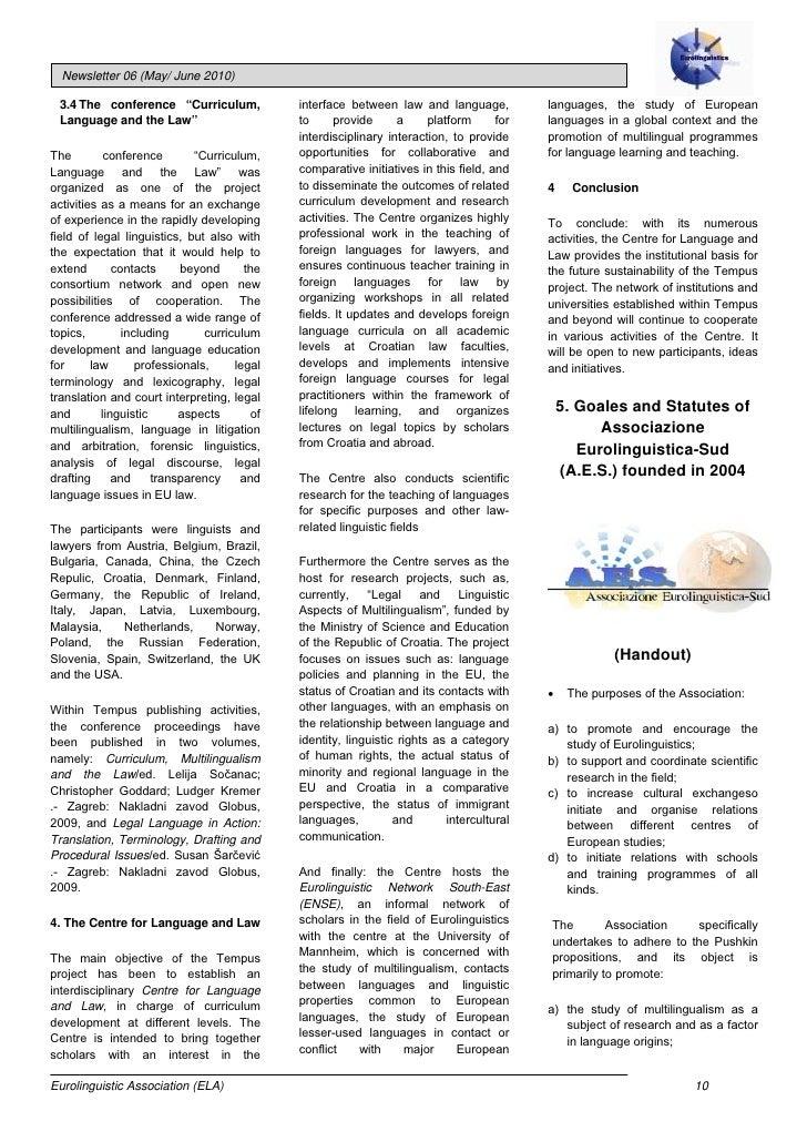 Eurolinguistics newsletter