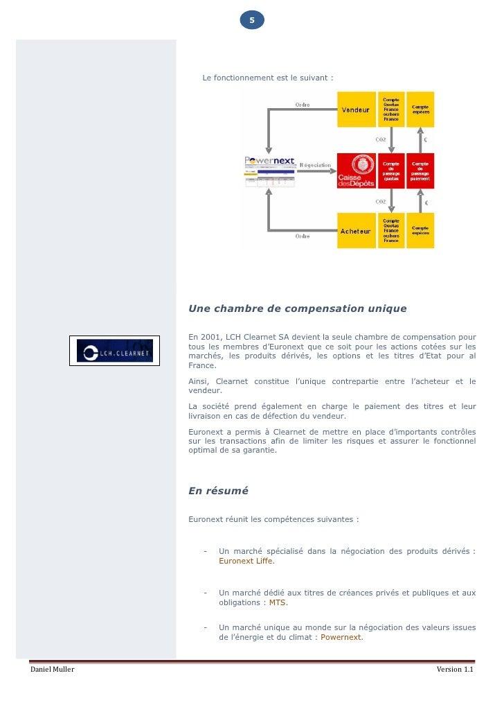 Euronext la bourse europeenne for Chambre de compensation