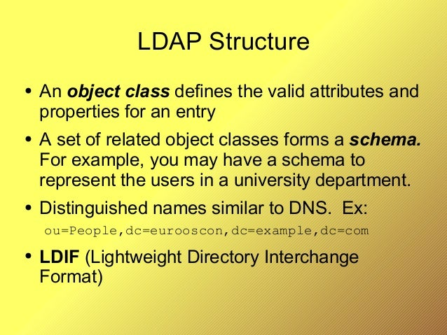 LDAP Applied (EuroOSCON 2005)