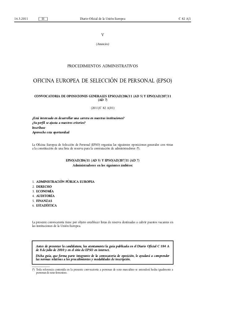 16.3.2011            ES                             Diario Oficial de la Unión Europea                                    ...