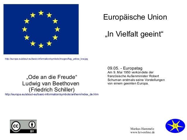 "Markus Hammele www.let-online.de Europäische Union ""In Vielfalt geeint"" http://europa.eu/about-eu/basic-information/symbol..."