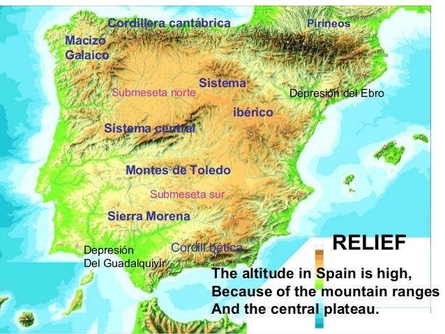 Mountains Of Spain Map.Europa And Spain