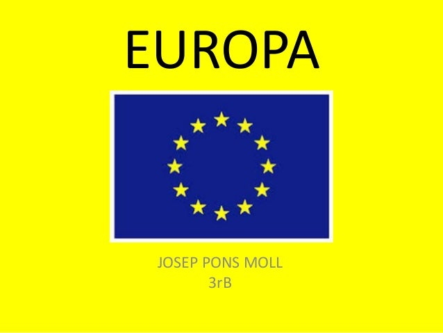 EUROPA JOSEP PONS MOLL 3rB