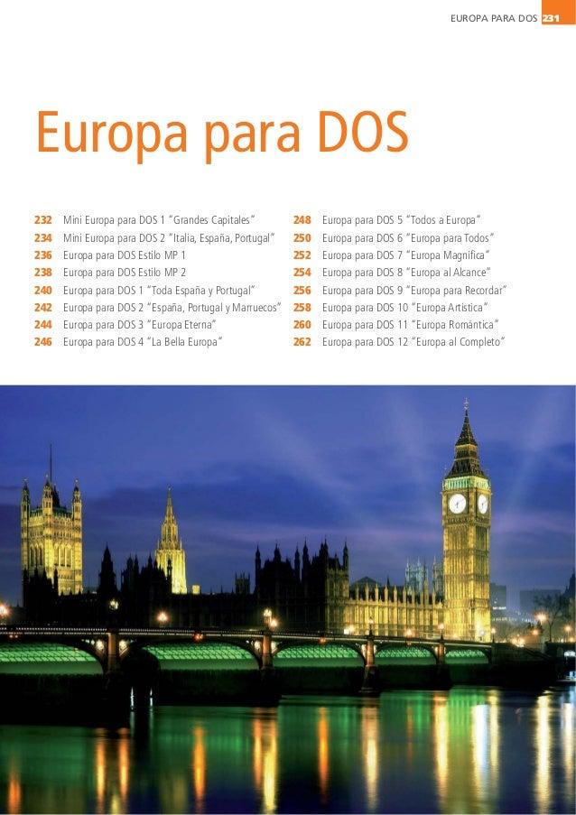 """EUROPA PARA DOS 231 Europa para DOS 232 234 236 238 240 242 244 246 Mini Europa para DOS 1 """"Grandes Capitales"""" Mini Europa..."""