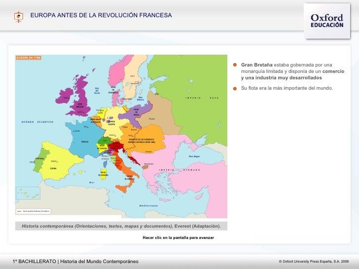 EUROPA ANTES DE LA REVOLUCI ÓN FRANCESA Historia contemporánea (Orientaciones, textos, mapas y documentos),  Everest (Adap...