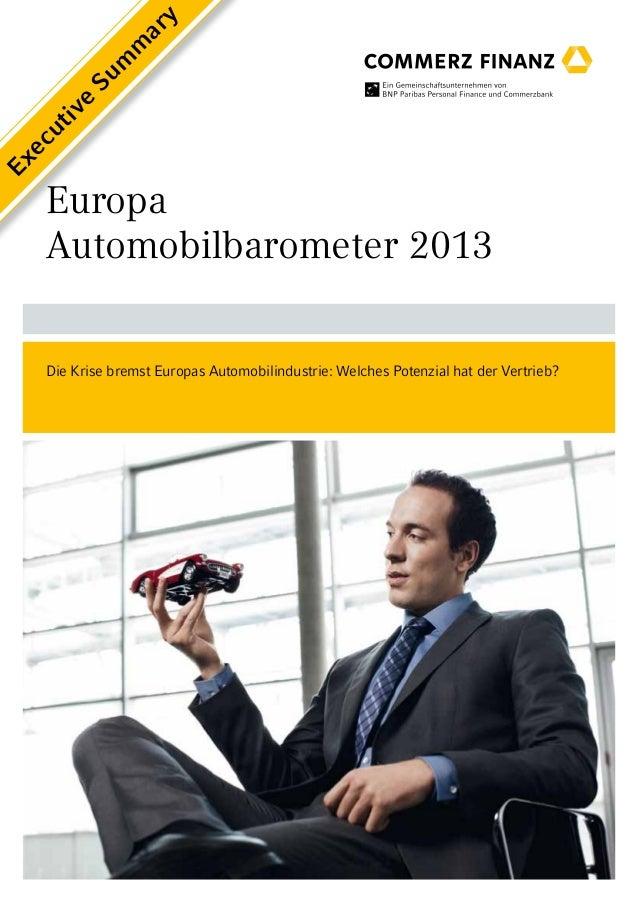 y                ar             m            m         Su     e    iv    ut  ecEx   Europa   Automobilbarometer 2013   Die...