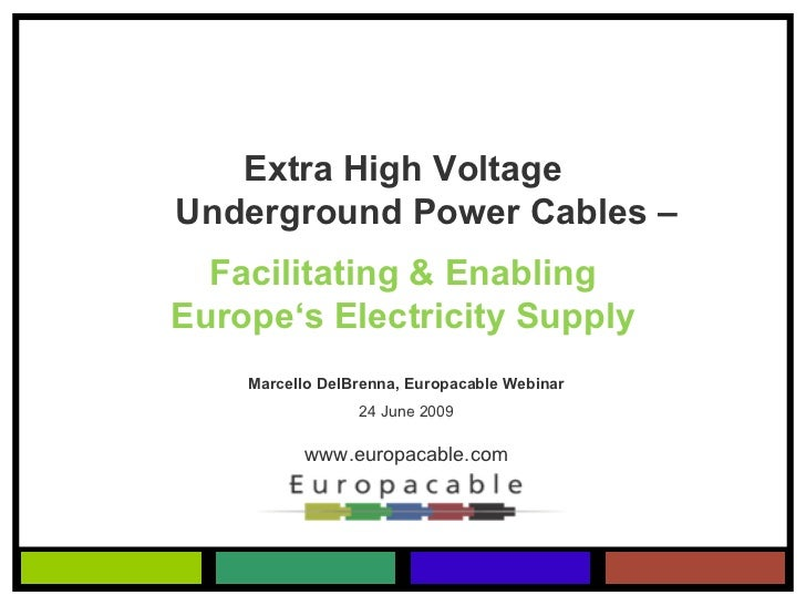 Names Of High Voltage Power Cable : Extra high voltage underground power cable