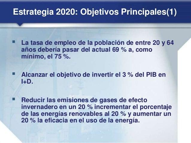 Estrategia 2020: Crecimiento inteligente(1) INNOVACIÓN Iniciativa emblemática de la UE: «Unión por la innovación». Mejorar...
