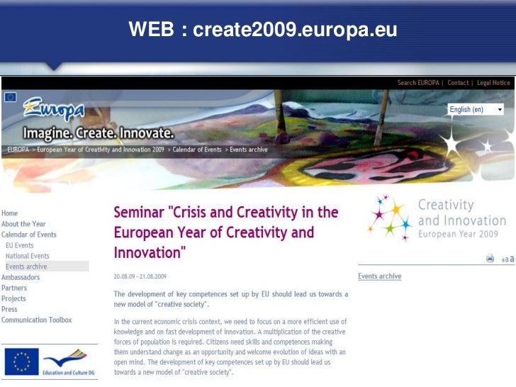 WEB : create2009.europa.eu