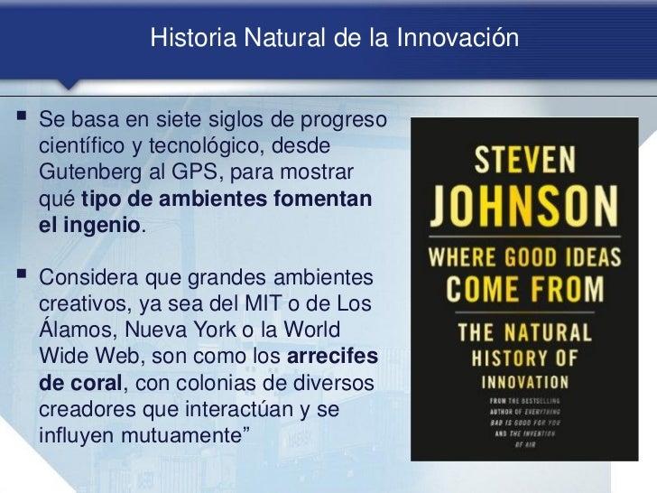 Steve Johnson:         Arrecife de coral como modelo de innovación Ecosistemas que se forman en    la porción cercana a l...