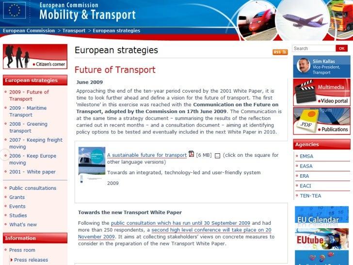 Los cambios actuales en la política de transportes                       UE  Descarbonización, considerada una   de las pr...