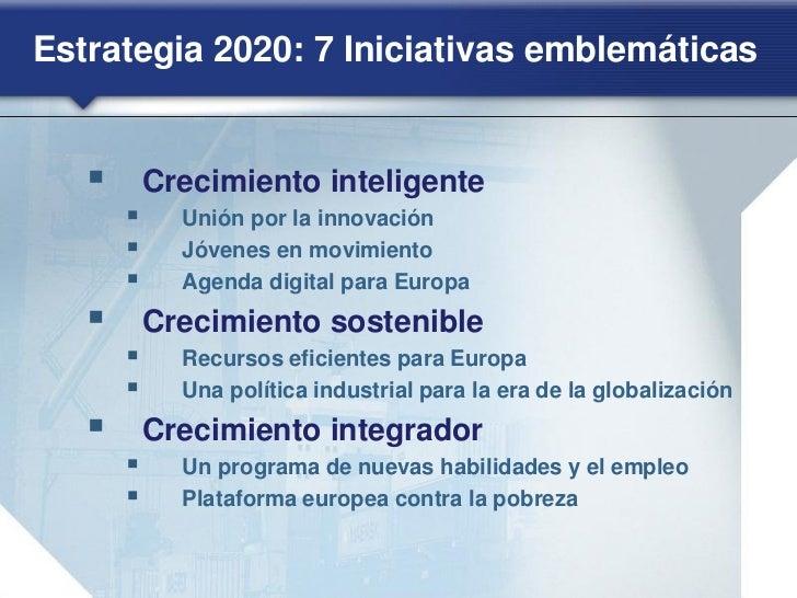 Estrategia 2020: Crecimiento inteligente(3)               SOCIEDAD DIGITAL     Iniciativa emblemática de la UE: «Una   age...
