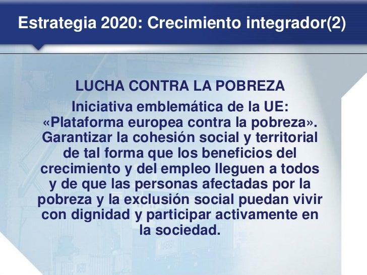 Europa frente a la crisis. Estrategia 2020