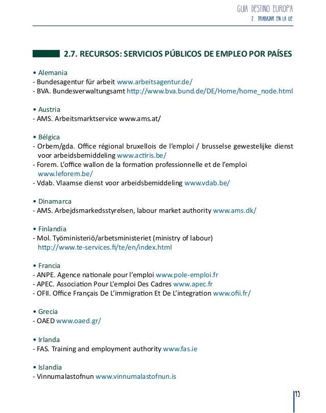 Gu a destino europa 2015 observatorio vasco de la juventud - Ofii office francais immigration integration ...
