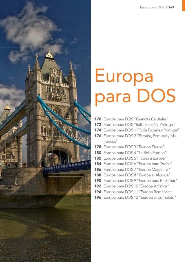 "Europa para DOS I 169Europapara DOS170   Europa para DOS ""Grandes Capitales""172   Europa para DOS ""Italia, España, Portuga..."