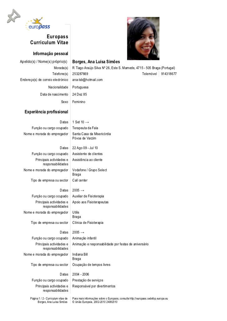 Curriculum Vitae English Europass Marchigianadoc Tk