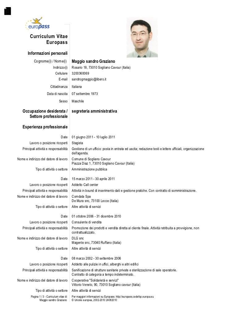 Modello Curriculum Elita Mydearest Co