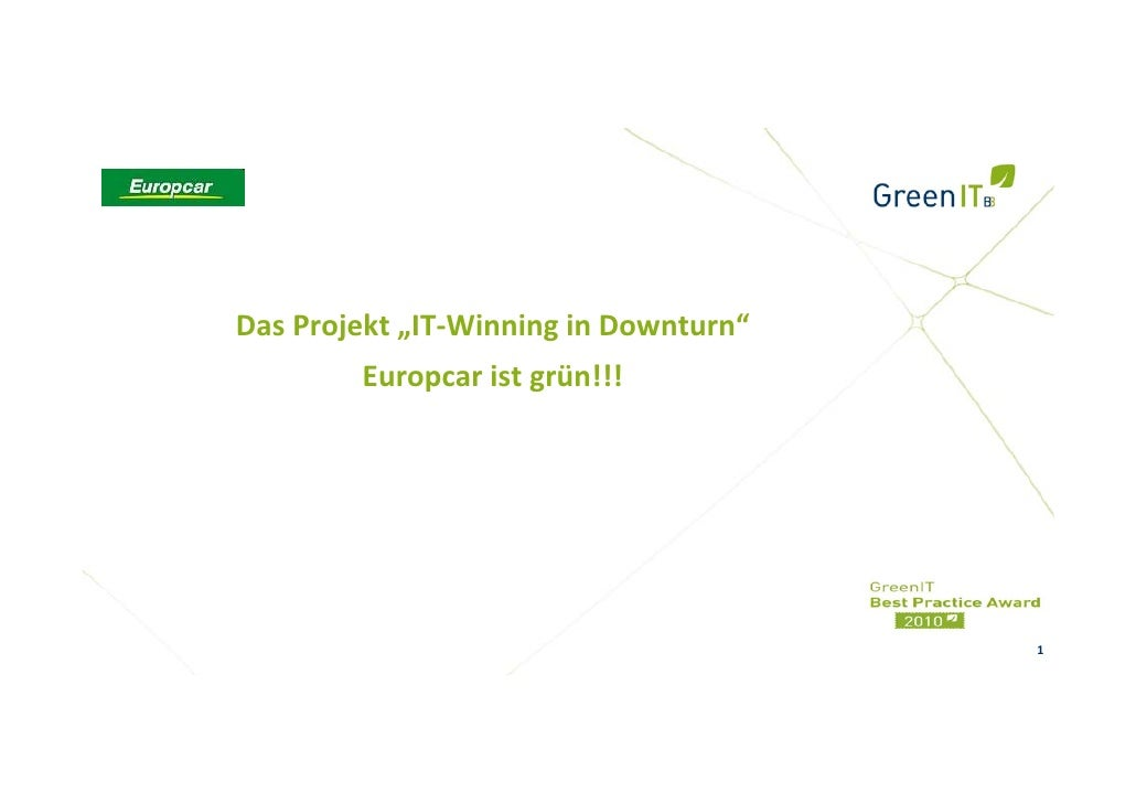 "Europcar - ""IT-Winning in Downturn"""
