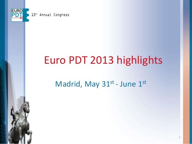 1 Euro PDT 2013 highlights Madrid, May 31st - June 1st