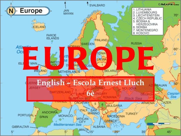 EUROPE English – Escola Ernest Lluch 6è