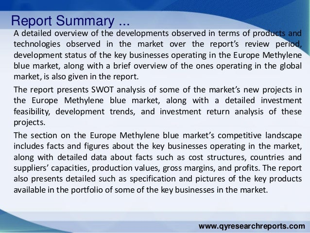 Europe methylene blue market 2015 industry analysis research growth trends demand and overview Slide 3