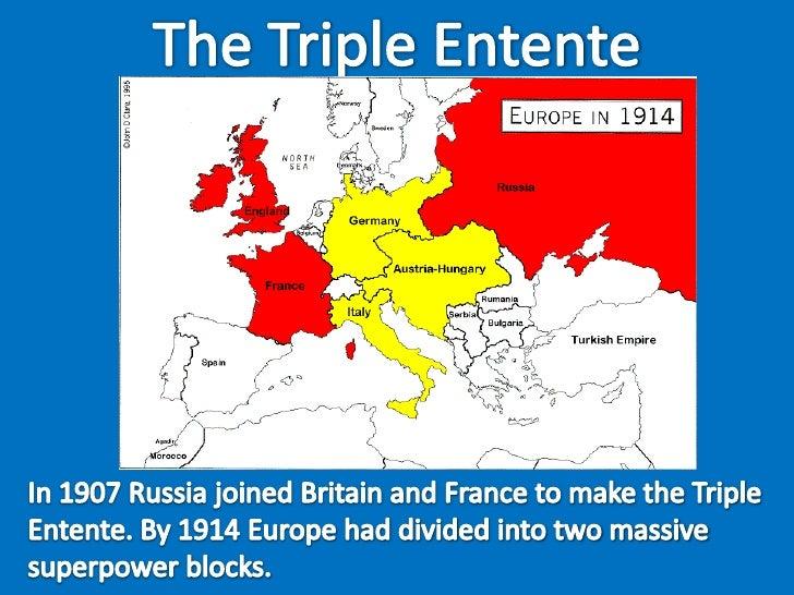 World war 1 alliance map