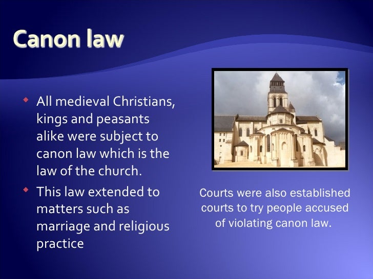 By church law updating