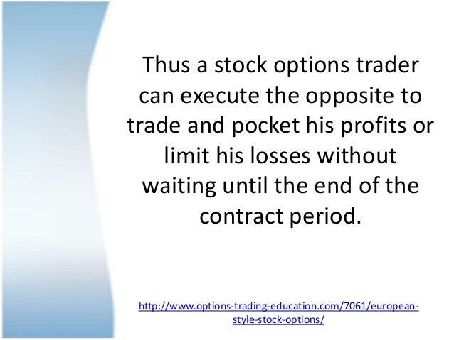 Where are european options traded