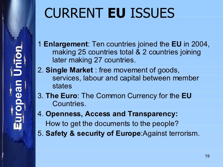 What are the Main Challenges Facing the European Union in 2017?